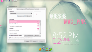 Cursor Mac_OS-X Pink by TutorialesLizet