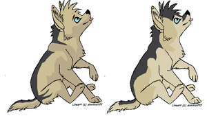 Pup designs for alpha by KirinKade