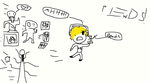 pewdiepie being chased by StephanoFennecFox