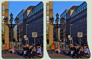 At the Gendarmenmarkt I :: HDR Cross-Eye 3D by zour