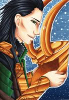 Loki the God of Mischief by MokkunChan