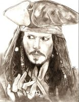 Jack Sparrow - Johnny Depp by thierryart