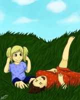 Seidra Shepard and Madelia playing on Mindoir by Ayame1014