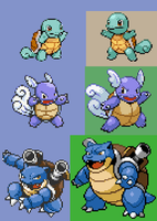 Squirtle Family Sprite Revamp by RPD490