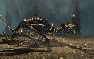 Skyrim Screenshots- Dragon Skeleton by vincent-is-mine