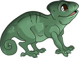 Commission - Baby Chameleon by Tigryph