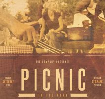 Picnic in the Park Event Flyer Template by loswl