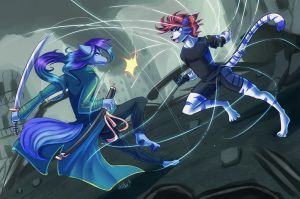 Battle in the middle of the chaos by WhitePhox