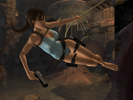 Lara in her classic swimsuit by sk8terwawa