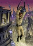 Obi-Wan And The Assassin Droid by AlanGutierrezArt