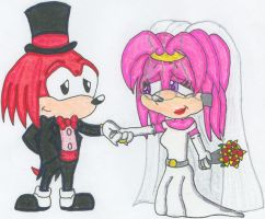 Knuckles + Julie-Su's Big Day by nintendomaximus