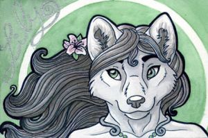 Lily badge - trade by Leona