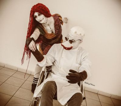 Sally and Dottor Finklestein Cosplay by ASCosplay