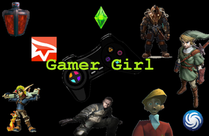 Gamer Girl Wallpaper by elektri-cute14