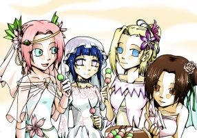 Naruto - Brides' Snack Time by Labapo999