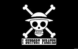 I Support Pirates Wallpaper by Mokenda