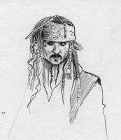Jack Sparrow Sketch by AngelinaBenedetti
