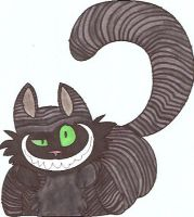 Black Cheshire Cat by pegfan