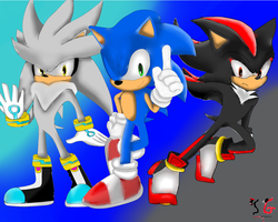 .:contest:.silver sonic and shadow by shadow--g