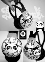 Bad Panda headphons by Bobsmade