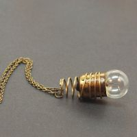 Steampunk Necklace- Brass Light Bulb Jewelry by Tanith-Rohe
