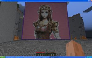 Princess Zelda On Minecraft by Miccopicco