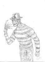 Freddy Krueger sketch- A4, pencil by IgorChakal