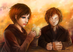 Ema and Vincent by Justsui