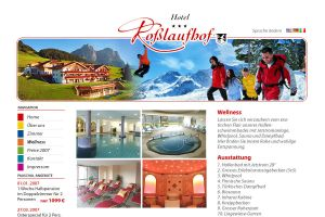 hotel website by illustrated-media