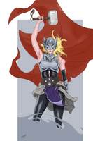Female Thor by ZuIwaruk