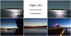 Night Lake - 5 Images Stock Pack by XiuLanStock