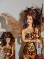 RANYA warrior fairy ooak doll by DivinityNemesis