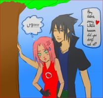 Road to Ninja: Flirty Sasuke by ariadnia