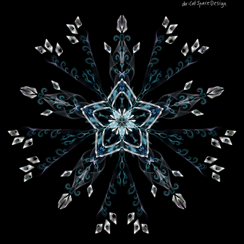 Blue Star and Crystals Pattern by CatSpaceDesign