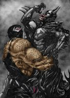 Batman vs. Bane by KateFinnegan