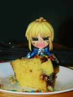 Don't Touch My Cake! by Hunter-Arkaman