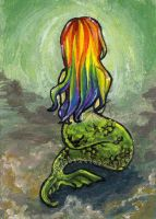 Rainbow Mermaid 2 by sobeyondthis