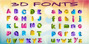 3D_Fonts by Dsings