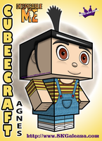 Despicable Me Agnes Cubeecraft 3D by SKGaleana by SKGaleana