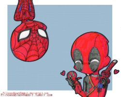 IDK spideypool by PrincessBlackRabbit