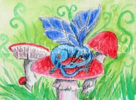 Fairy Dragon ACEO by The-GoblinQueen