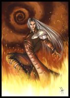 Sephiroth fanart by oliverlord