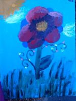 Wild Flower Painting by mb111995