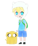 Finn and Jake by Kathe-gf
