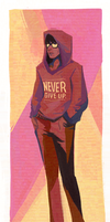 Never give up by DoOp