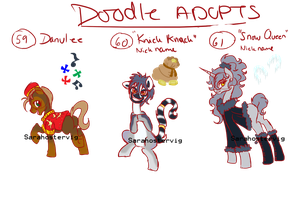 Doodle pony adopts adopts 22 CLOSED by Sarahostervig