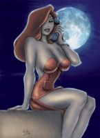 Jessica Rabbit Moonlight phone by Predabot