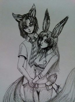 //Zootopia//Nick and Judy// by Lady-Sweet-Suicide