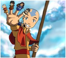 Avatar - Aang and Pals by Little-Padfoot