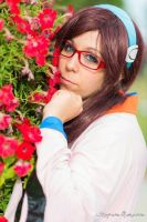 Mari Makinami among the flowers *w* by CryChan87